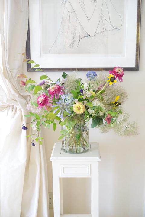 6月のレッスン 初夏の草花を使った投げ入れ_f0127281_11400606.jpg