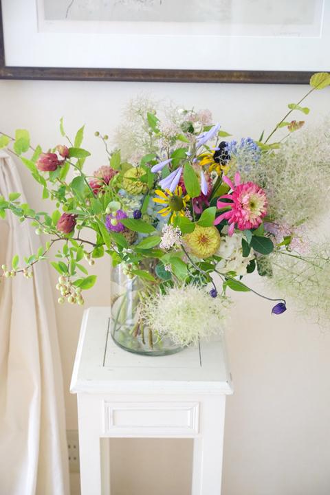 6月のレッスン 初夏の草花を使った投げ入れ_f0127281_11402467.jpg