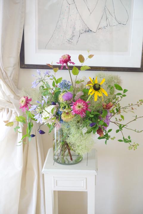 6月のレッスン 初夏の草花を使った投げ入れ_f0127281_11404644.jpg