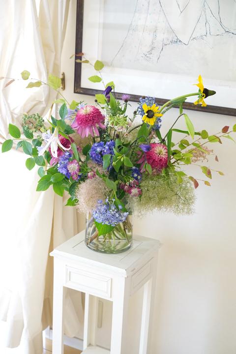 6月のレッスン 初夏の草花を使った投げ入れ 2_f0127281_11562535.jpg
