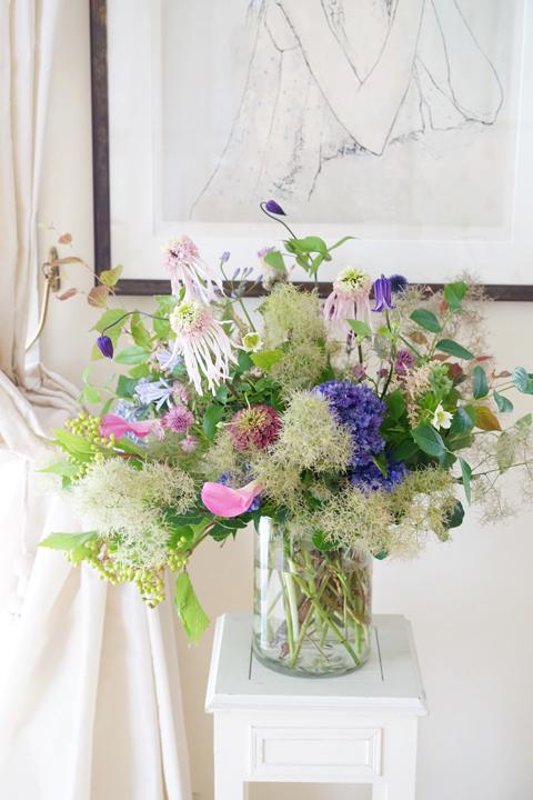 6月のレッスン 初夏の草花を使った投げ入れ3_f0127281_12162140.jpg