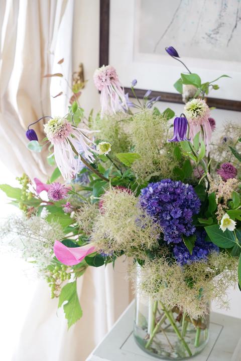 6月のレッスン 初夏の草花を使った投げ入れ3_f0127281_12164675.jpg