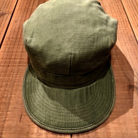 "1960s \"" U.S ARMY \"" 100% cotton SATEEN OG-107 VINTAGE UTILITY CAP - SNOOPY ピンズ付 - ._d0172088_16440614.jpg"