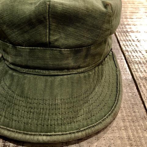 "1960s \"" U.S ARMY \"" 100% cotton SATEEN OG-107 VINTAGE UTILITY CAP - SNOOPY ピンズ付 - ._d0172088_17180022.jpg"