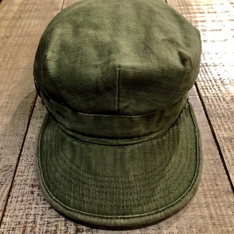 "1960s \"" U.S ARMY \"" 100% cotton SATEEN OG-107 VINTAGE UTILITY CAP - SNOOPY ピンズ付 - ._d0172088_17231206.jpg"