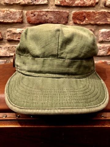 "1960s \"" U.S ARMY \"" 100% cotton SATEEN OG-107 VINTAGE UTILITY CAP - SNOOPY ピンズ付 - ._d0172088_17282495.jpg"