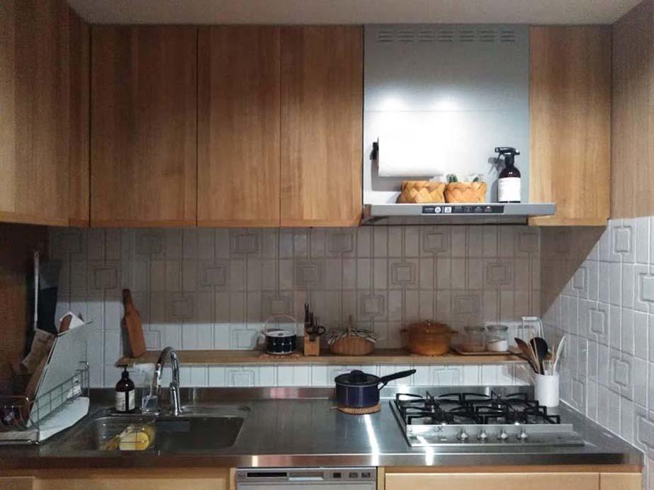 キッチンをお手軽に質感ある場所に_f0370091_20591173.jpg