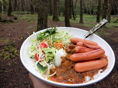 キャンプの朝食はカレーで_e0077899_835810.jpg