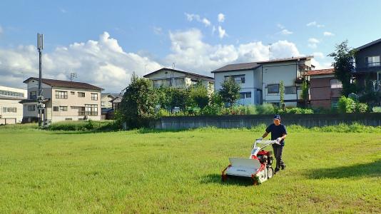 耐久山岳マラソンなどの準備で駐車場の草刈りをしました_c0336902_14172727.jpg