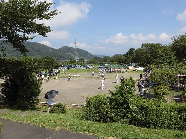 暑さが堪える中、第24回富士市ゲートボールジュニア大会in雁(かりがね)公園_f0141310_07465949.jpg