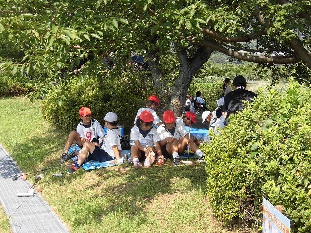 暑さが堪える中、第24回富士市ゲートボールジュニア大会in雁(かりがね)公園_f0141310_07471495.jpg