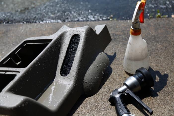 グリーンTJ内装洗浄作業とメーター修理進行中_f0105425_18190385.jpg