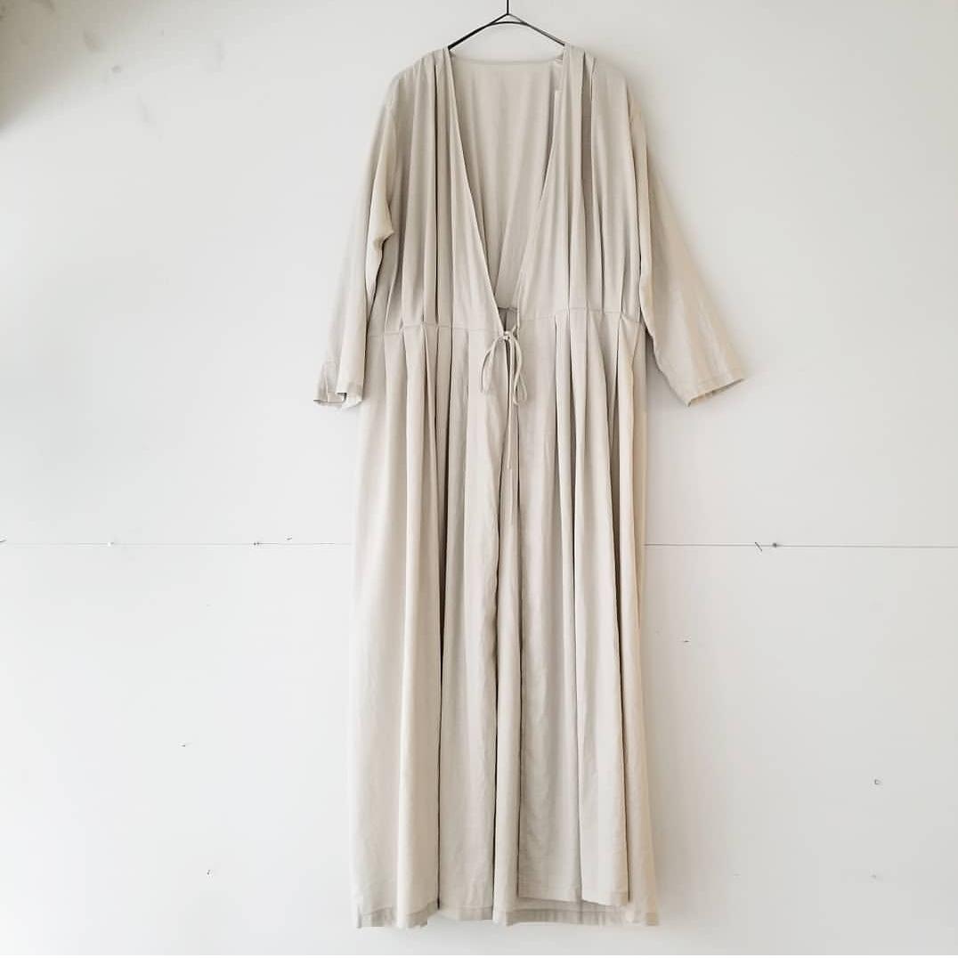 evam eva otton silk tuck robe_f0120026_17244821.jpg