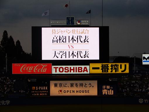 佐々木くんを見るために壮行試合観戦_a0206939_21013228.jpg