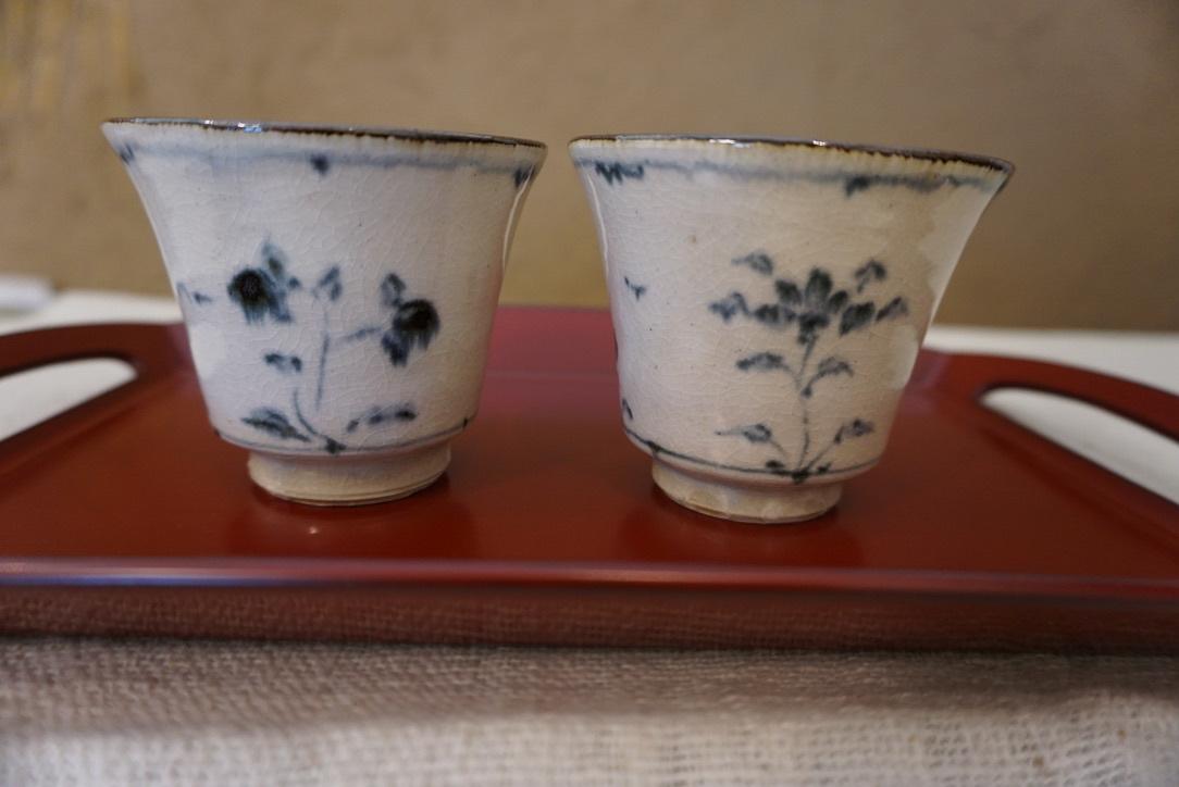 藤田佳三さんの染付小湯呑みとマルチカップが届きました_b0132442_14310919.jpg
