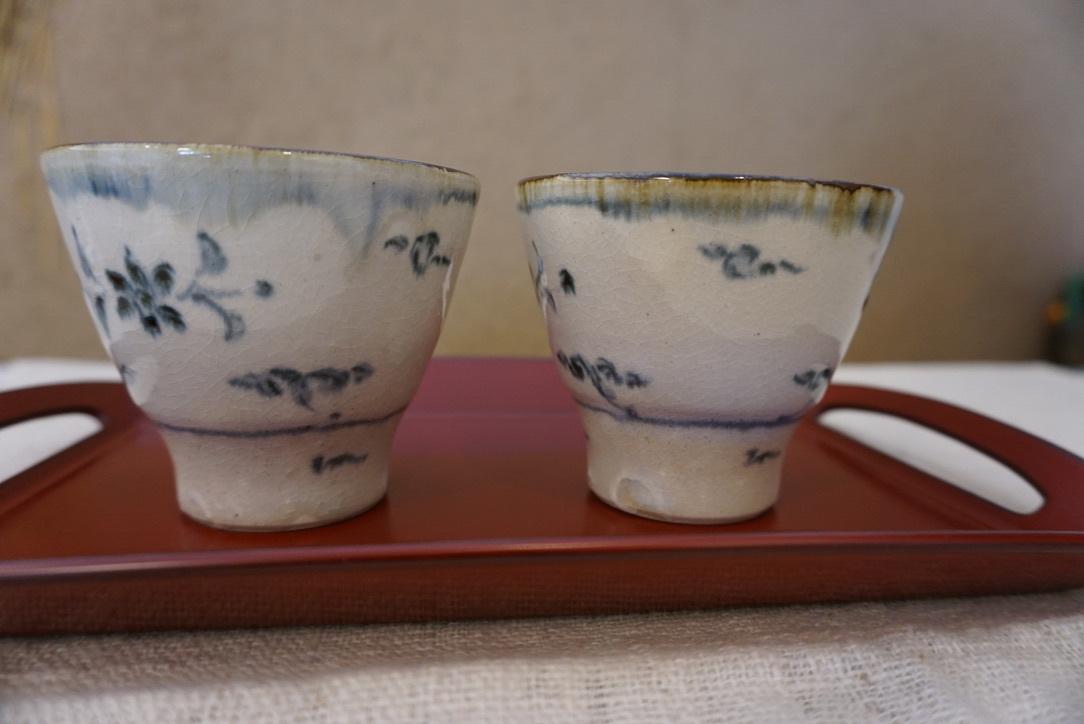 藤田佳三さんの染付小湯呑みとマルチカップが届きました_b0132442_14314192.jpg