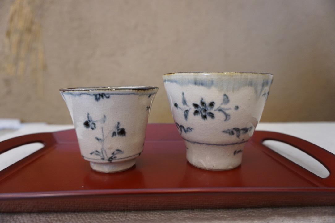 藤田佳三さんの染付小湯呑みとマルチカップが届きました_b0132442_14314833.jpg
