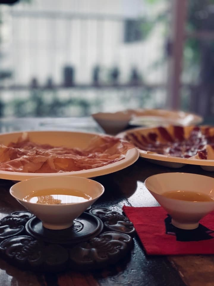 中国茶と生ハム_f0070743_15455117.jpg