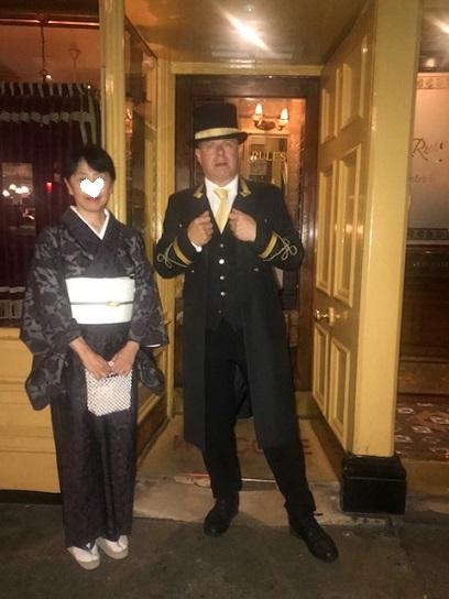 英国最終日・着物でロンドン最古のレストランRulesへ。_f0181251_19261611.jpg