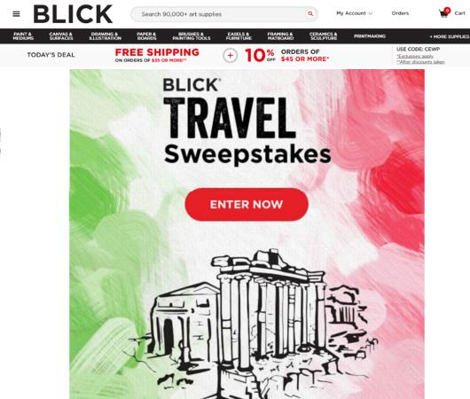 NYの画材屋さん、Blick Art Materialsの夏のキャンペーンの謎_b0007805_20073971.jpg