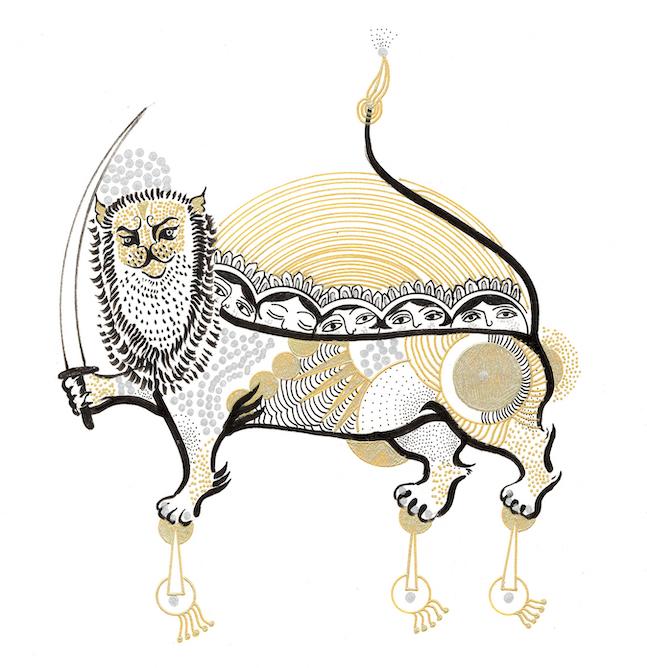 アミーン・ハサンザーデ=シャリーフ展「My Iranian Lions」大阪(Calo Bookshop & Cafe) 東京(SEE MORE GLASS)_e0091706_21593472.jpg
