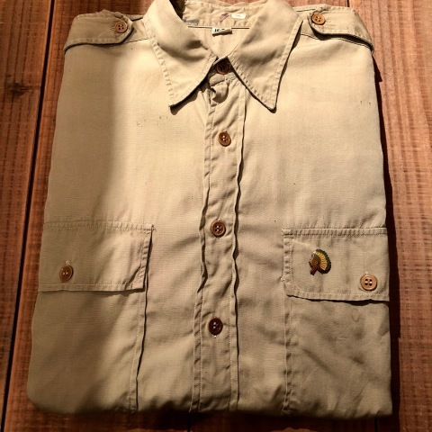 """1940s \"""" U.S ARMY \"""" 100% cotton VINTAGE OFFICER - マチ付き - CHINOS SHIRTS ._d0172088_18495679.jpg"""