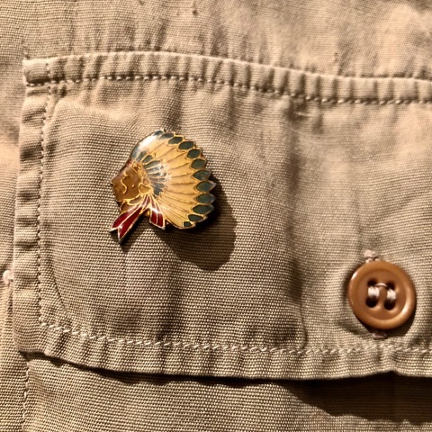 """1940s \"""" U.S ARMY \"""" 100% cotton VINTAGE OFFICER - マチ付き - CHINOS SHIRTS ._d0172088_18502893.jpg"""