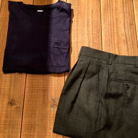 """1940s \"""" U.S ARMY \"""" 100% cotton VINTAGE OFFICER - マチ付き - CHINOS SHIRTS ._d0172088_18513310.jpg"""