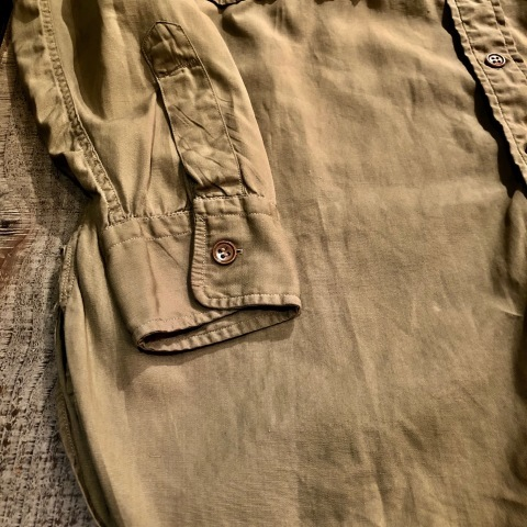 """1940s \"""" U.S ARMY \"""" 100% cotton VINTAGE OFFICER - マチ付き - CHINOS SHIRTS ._d0172088_19032744.jpg"""