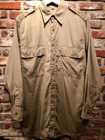 """1940s \"""" U.S ARMY \"""" 100% cotton VINTAGE OFFICER - マチ付き - CHINOS SHIRTS ._d0172088_19080678.jpg"""