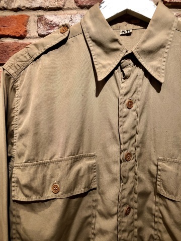 """1940s \"""" U.S ARMY \"""" 100% cotton VINTAGE OFFICER - マチ付き - CHINOS SHIRTS ._d0172088_19084082.jpg"""