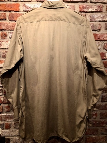 """1940s \"""" U.S ARMY \"""" 100% cotton VINTAGE OFFICER - マチ付き - CHINOS SHIRTS ._d0172088_19103941.jpg"""