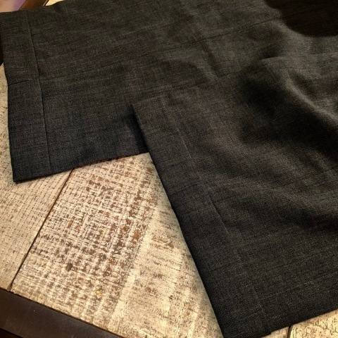"""1940s \"""" U.S ARMY \"""" 100% cotton VINTAGE OFFICER - マチ付き - CHINOS SHIRTS ._d0172088_19444629.jpg"""