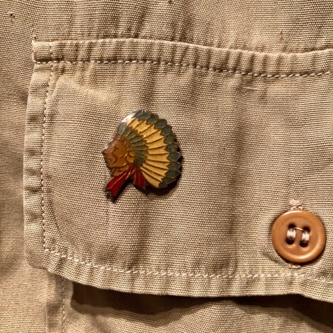 """1940s \"""" U.S ARMY \"""" 100% cotton VINTAGE OFFICER - マチ付き - CHINOS SHIRTS ._d0172088_20012277.jpg"""