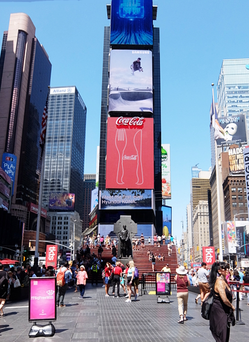 タイムズ・スクエアの風景を眺めるのにオススメ、TKTSブース展望台_b0007805_08204350.jpg