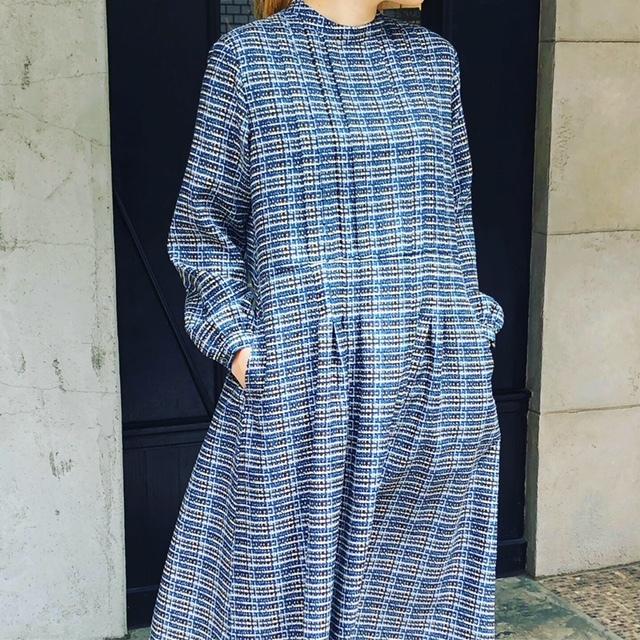 GRANDMA MAMA DAUGHTER   retrocheck standtuck dress_a0222424_20562591.jpg
