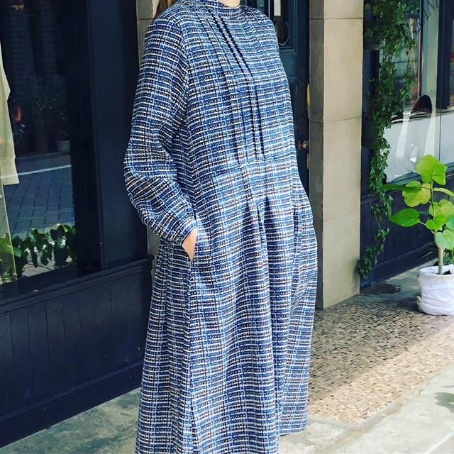 GRANDMA MAMA DAUGHTER   retrocheck standtuck dress_a0222424_20562942.jpg