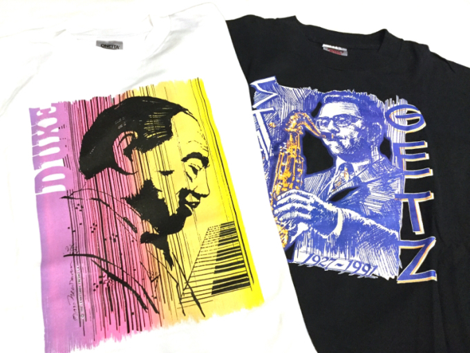 「 DEADSTOCKジャズTEE & ストライプパジャマシャツ」_c0078333_16231880.jpg