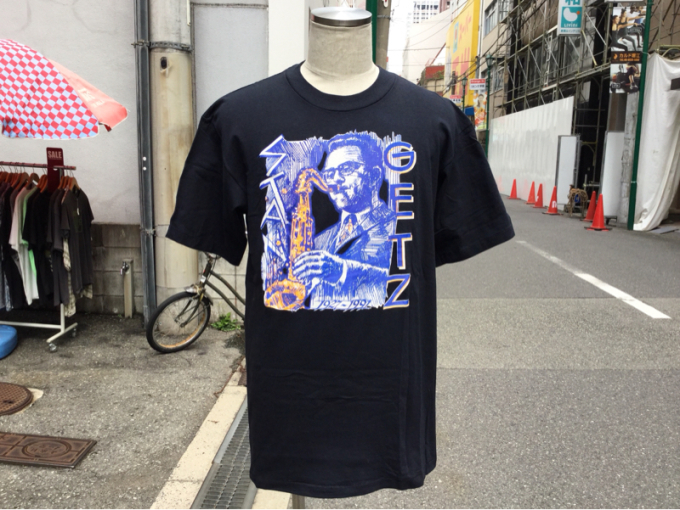 「 DEADSTOCKジャズTEE & ストライプパジャマシャツ」_c0078333_16390735.jpg