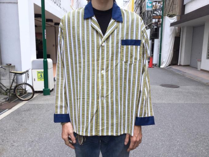 「 DEADSTOCKジャズTEE & ストライプパジャマシャツ」_c0078333_17594615.jpg