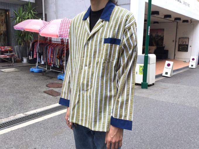 「 DEADSTOCKジャズTEE & ストライプパジャマシャツ」_c0078333_18012828.jpg