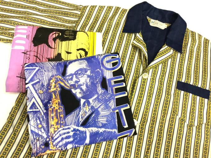 「 DEADSTOCKジャズTEE & ストライプパジャマシャツ」_c0078333_18494142.jpg