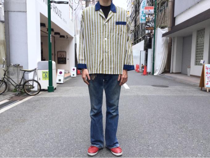 「 DEADSTOCKジャズTEE & ストライプパジャマシャツ」_c0078333_18503105.jpg