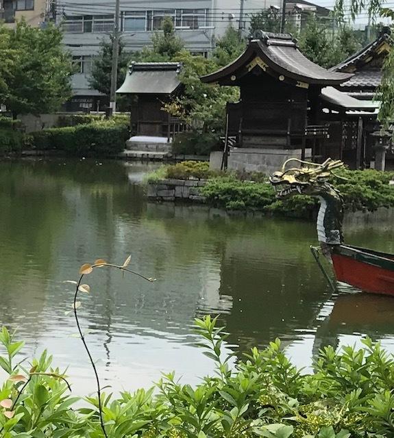 夏の着物でランチ会・京都のパワースポット神泉苑・平八_f0181251_18471077.jpg