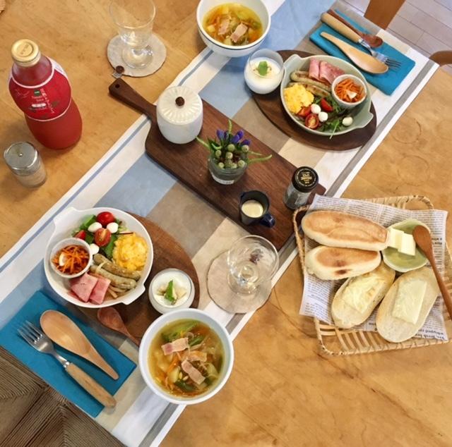 Breakfast  次男夫婦の食卓_a0165160_06305683.jpg