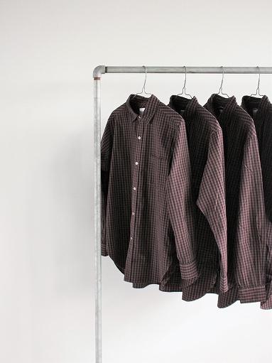 blurhms Polish Chambray Shirt / GMCH-Brown_b0139281_15325276.jpg