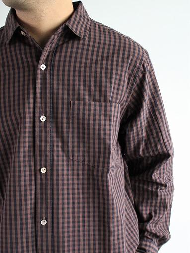 blurhms Polish Chambray Shirt / GMCH-Brown_b0139281_15343926.jpg