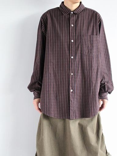 blurhms Polish Chambray Shirt / GMCH-Brown_b0139281_15351179.jpg