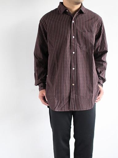blurhms Polish Chambray Shirt / GMCH-Brown_b0139281_1535336.jpg