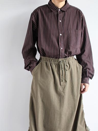 blurhms Polish Chambray Shirt / GMCH-Brown_b0139281_15354115.jpg